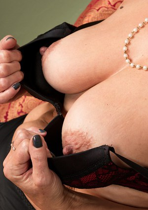nipples granny Erect mature
