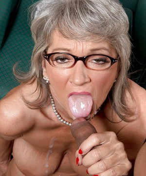 granny cum in mouth